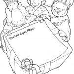 Carta de reyes magos felices original para imprimir y colorear