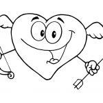 Corazon Cupido para el día de los enamorados para pintar y dibujar