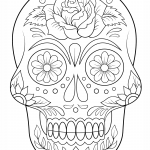 Mexican sugar skull coloring page