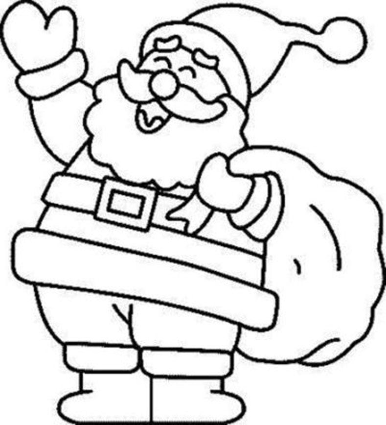 Dibujos Para Colorear De Navidad Santa Claus