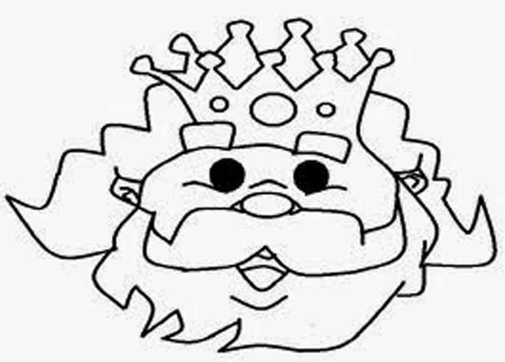 Imagen de cara de Melchor para dibujar y adornar - Dibujo para Imprimir