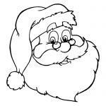 Imagen de cara de Santa Claus de navidad para dibujar y colorear