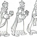 Imagen de reyes magos para colorear y recortar