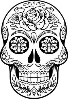 Mexican skull images to print and color