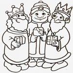 Los tres reyes magos para adornar y pint