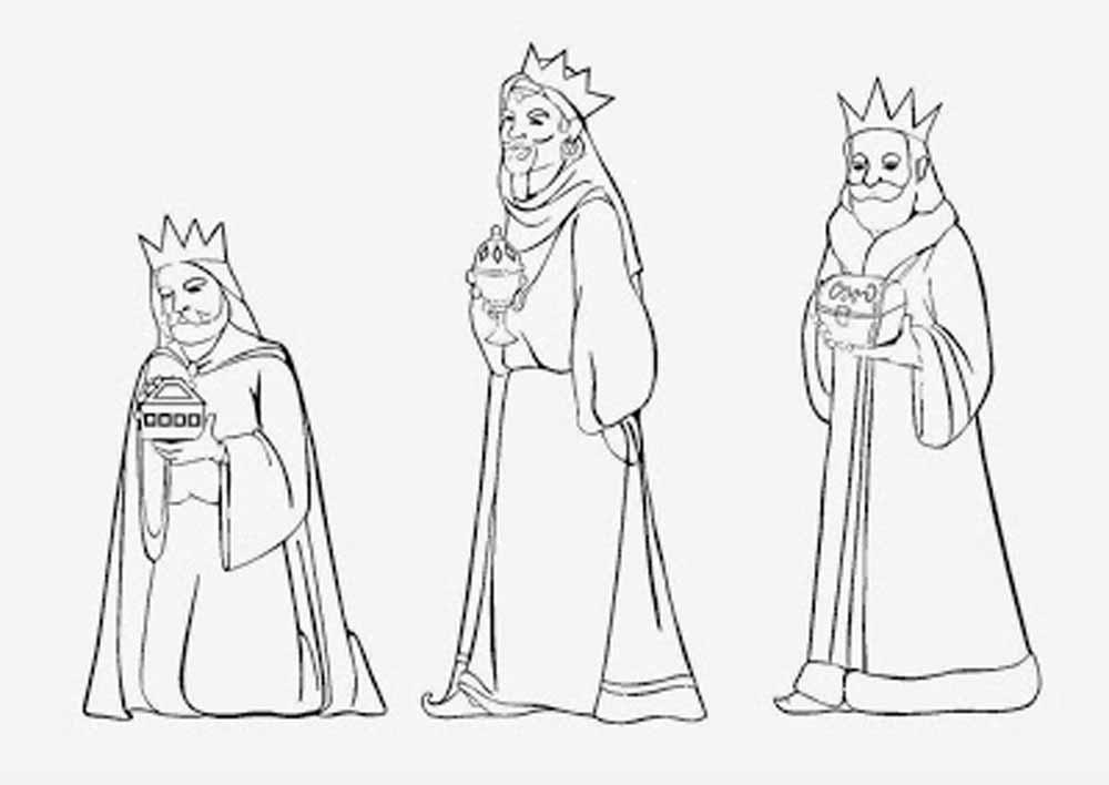 40 Imágenes De Reyes Magos Para Colorear