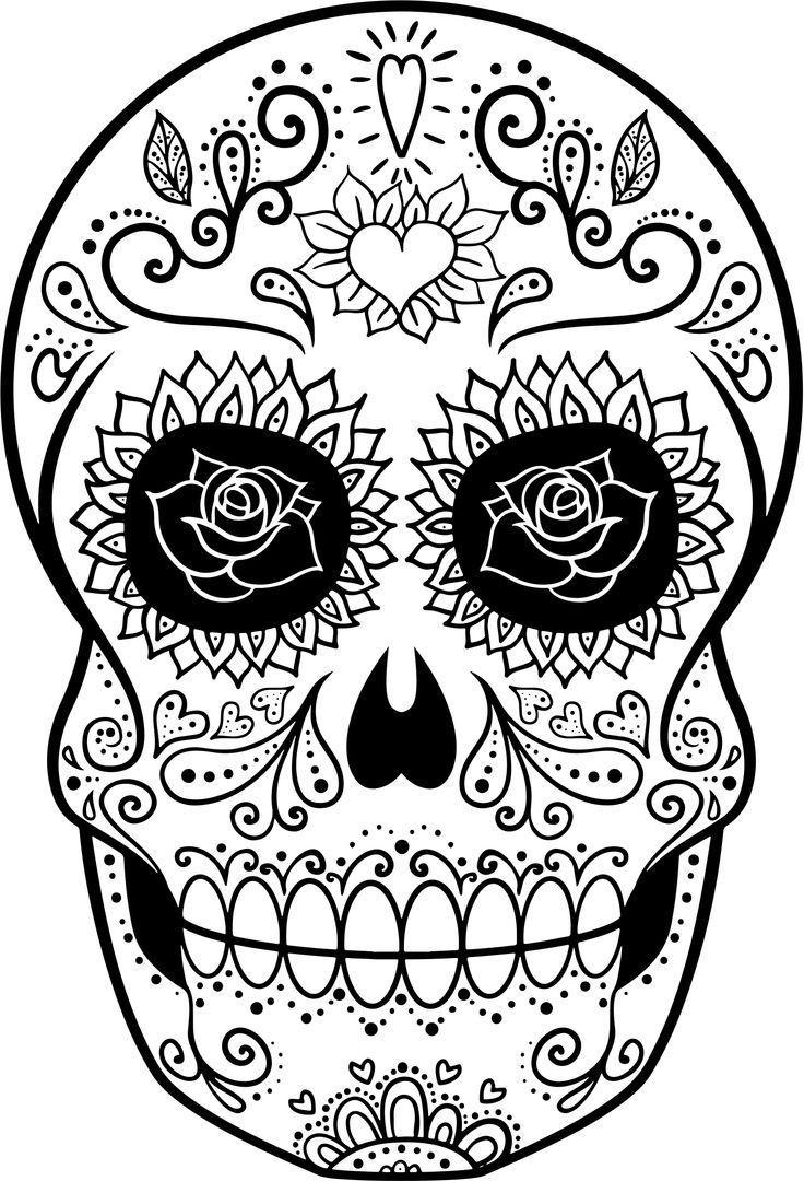 14 im genes de calaveras para colorear dibujo para imprimir - Pintar en pared ...