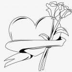 corazon con flor rosa clavel para san vale
