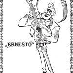 Dibujo de Ernesto coco plantilla para dibujar y colorear
