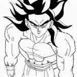 Dibujo de Goku Super Sayan 4 para pintar y colorear