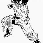 Dibujo de Goku adulto normal para pintar y dibujar