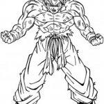 Dibujo de Goku fase 2 sayan para colorear y dibujar