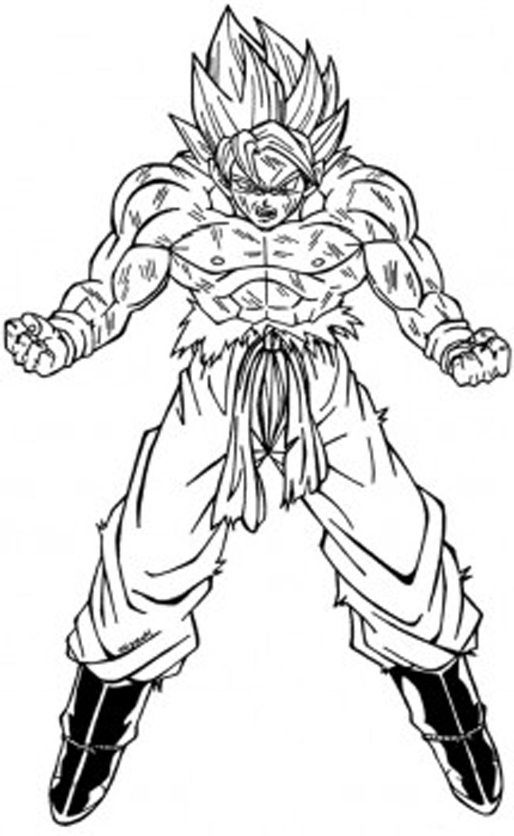 50 Imagenes De Goku Para Dibujar Dibujo Para Imprimir