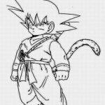 Dibujo de Goku niño para colorear