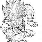 Dibujo de Son Goku sayan haciendo un k