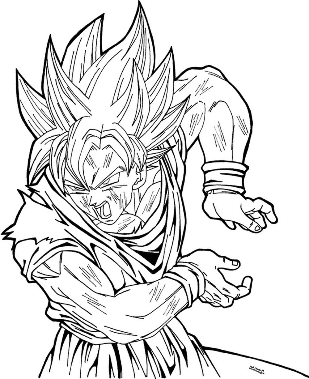 Imagenes Para Colorear Goku Fase Dios Goku Dios Para Dibujardibujos
