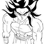 Imagen de Goku fase 4 para iluminar y di