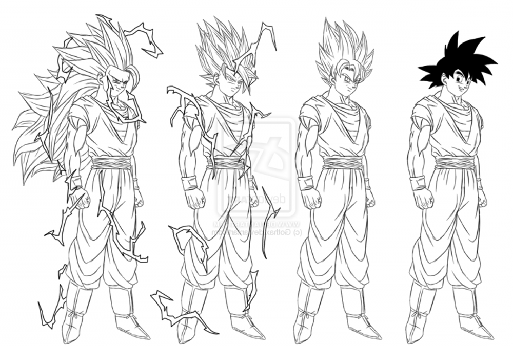 50 Imágenes De Goku Para Dibujar Dibujo Para Imprimir