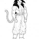 Imagen de Son Goku en fase 4 para imprimir y recortar