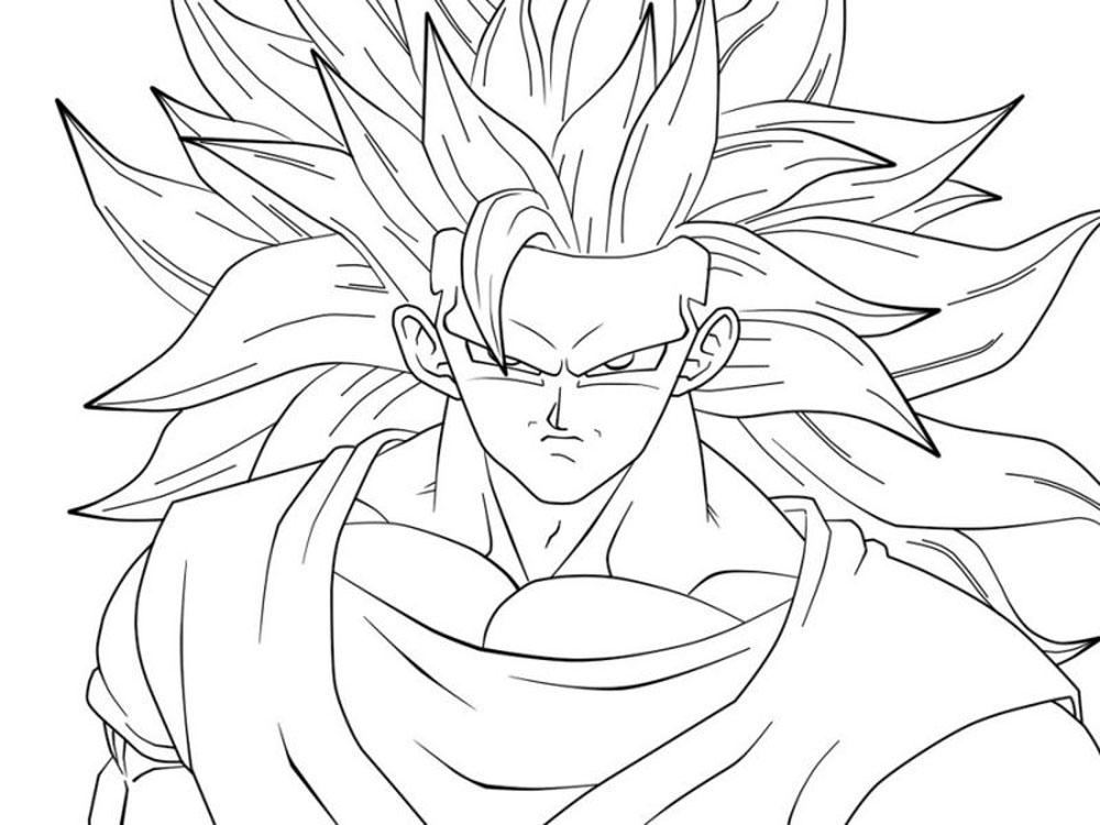 50 imágenes de Goku para Dibujar - Dibujo para Imprimir