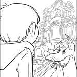 imagen de dante y miguel entrando al templo de ernesto pelicula de disney para colorear y dibujar