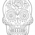 Dibujo de Calavera mexicana de azucar para colorear