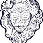 Dibujo de calavera mexicana para imprimir colorear recortar y adornar