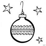 Imagen de Adorno de Esfera de Navidad para dibujar y colorear