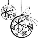 Imagen de Adornos de Esferas de Navidad para dibujar y colorear