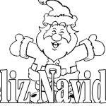 Imagen de Feliz Navidad con Papa Noel para dibujar y colorear