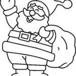 Imagen de Santa Claus Papa Noel con Regalos de navidad para dibujar y colorear