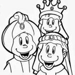 Los reyes magicos para colorear y recortar