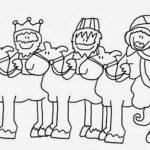 Los reyes magos montando para colorear y dibujar