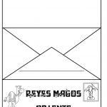 Plantilla de sobre para carta a los tres reyes magos para imprimir y doblar
