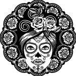 calavera-mejicana-femenina-colorear