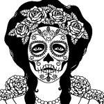 mujer-calavera-mejicana-colorear