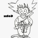 Dibujo de Goku niño con cola para imprimir doibujar y colorear