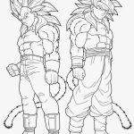 Dibujo de Goku y Vegeta fase 4 de drago