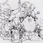 Imagen de Goku niño con sus amigos pa