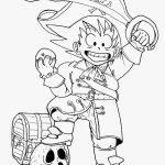 Imagen de Goku vestido de pirata para recortar e iluminar