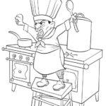 Imagen para imprimir dibujar colorear Ratatoille Skinner