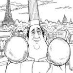 Dibujo para Imprimir Dibujar Colorear Ratatoille Auguste Gusteau