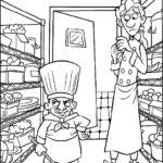Dibujo para Imprimir Dibujar Colorear Ratatoille Skinner Alfredo Lingüini
