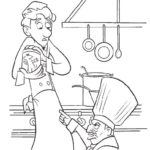 Dibujo para Imprimir dibujar colorear Ratatoille Remy Skinner Alfredo Lingüini