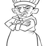 Dibujo para Imprimir dibujar colorear Ratatoille Skinner