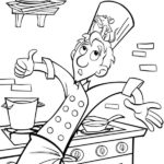 Dibujo para imprimir dibujar colorear Ratatoille Remy Alfredo Lingüini